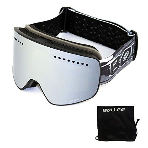 Maschere da Moto Maschere da Sci con Lente polarizzata a Doppio Strato Magnetico Sci Sci antiappannamento UV400 Maschere da Snowboard Occhiali da Sci Cinturino Regolabile Ciclismo Adulto Motocross