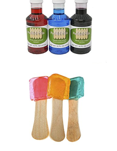 Perfect Stix PL Snow Cone Syrup Set-3 Pack Snow Cone Syrup Kit (Pack of 153)