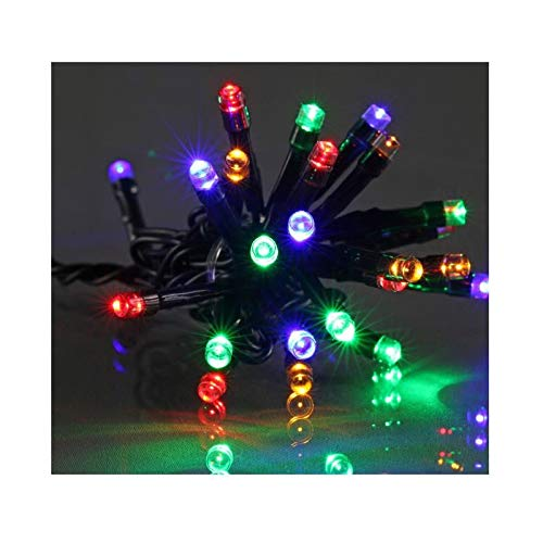 E=M6 5EEX336MC Guirlande 300 LED Fil Vert Plastique, Multicolore