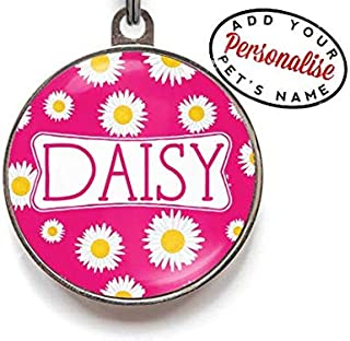 Wag-A-Tude Tags Daisy Pet Dog ID Tag Personalized Custom for Cats and Dogs with Color Options Strong Durable Metal Dog Tag