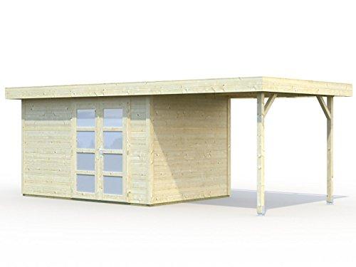 Palmako Gartenhaus Palmako Lara 2 mit Unterstand 5,9 m² - Lara 8,4+5,9 m²