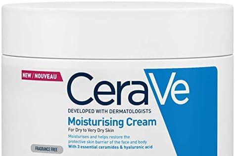 CeraVe Moisturising Cream   340 g/12 oz   Daily Face, Body & Hand Moisturiser for Instant & Long-Lasting Hydration