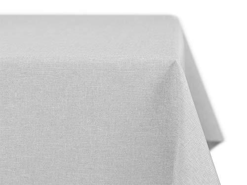 Beautex Mantel con aspecto de lino, no precisa planchado, varios tamaños, formas y colores a elegir, tejido, gris claro,...