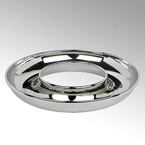 Lambert Saturnia Schale Alu rund groß vernickelt H7 D50cm Metallaccesoires, Aluminium, Silber, One Size