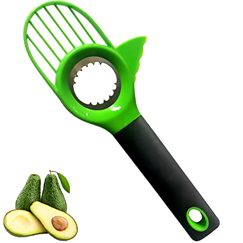 Avocado Slicer 3 in 1, Avocado Tool with Silicon Grip Handle Avocado...