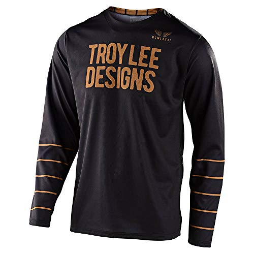 Troy Lee Designs Mens | Offroad | Motocross | GP Pinstripe Jersey (Black, X-Large)