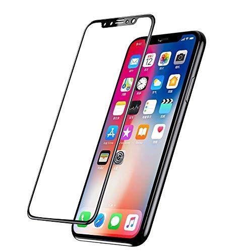 Hanye iPhone XS Max対応 6.5inch 全面保護 強化ガラスフィルム スマートフォン ガラスフィルム カーボン 炭素繊維 液晶保護ガラスフィルム