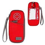USA GEAR Medizinischer Koffer - Epipen-Tragetasche Isolierte Medizintasche Kompatibel Mit Epipen, Auvi-q, Insulinspritzen, Inhalator, Kleinem Eisbeutel Und Mehr Medizin (Rot)