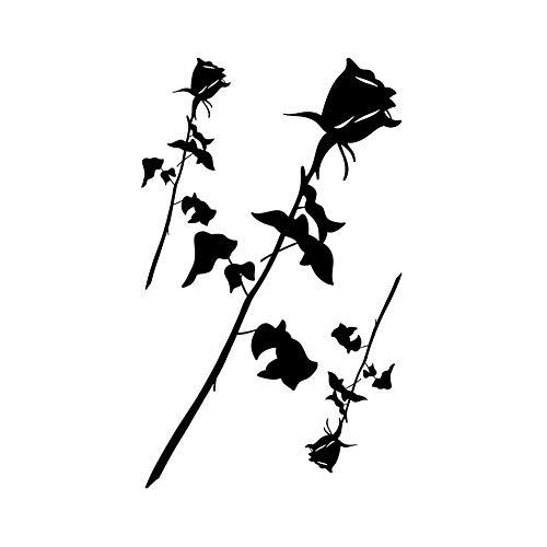 4 feuilles romantique Rose tatouages temporaires bras Art tatouages autocollants pour Costume Party couvrant les cicatrices