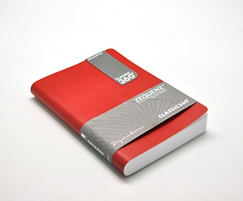 Zequenz Classic 360 Notizbuch, weich gebunden, mittelgroß, 12,7 x 17,8 cm, 140 Blatt/280 Seiten, blanko, dickes Papier