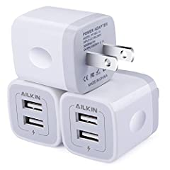 Premium Performance: Dual-USB output with total current 5V/2.1A and input with 100-240V enables you to charge two mobile devices simultaneously at high speed.It can really save your time! Safety assurance: AILKIN'S charger has protection system again...