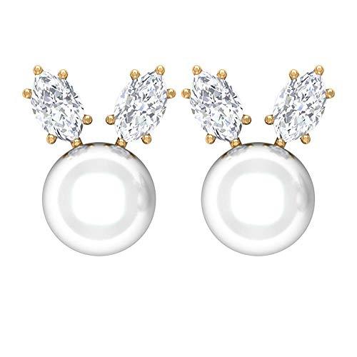 Rosec Jewels - 18 Karat Gelbgold Markise Leicht Getöntes Weiß/Top Crystal (I) Diamant