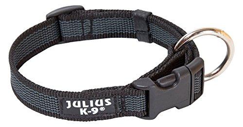 Julius-K9 - Collar para perro, Negro (Black/Gray), 25mm*39-65 cm