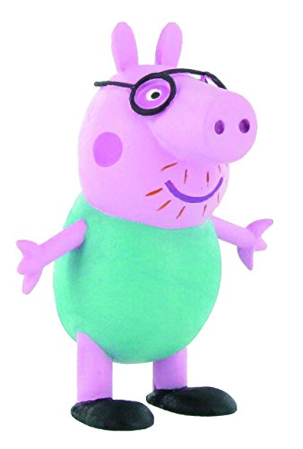 Comansi- Peppa Daddy Pig Mini Figura, Multicolor, 6.5 cm (Y99682)