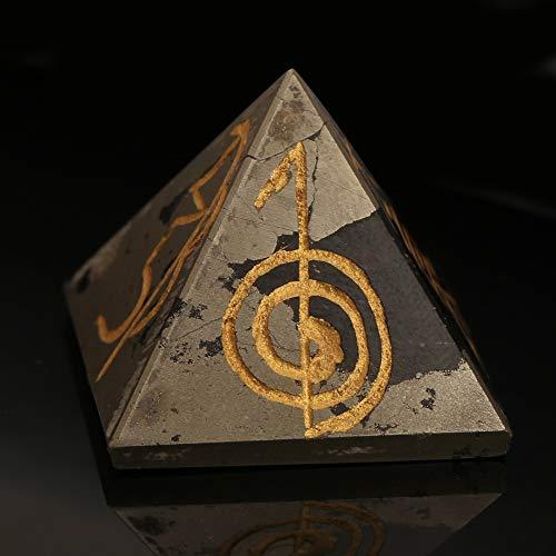 Crystal Healing lapisl/ázuli Chakra Pir/ámide metaf/ísico Piedra Estatuilla 25 MM