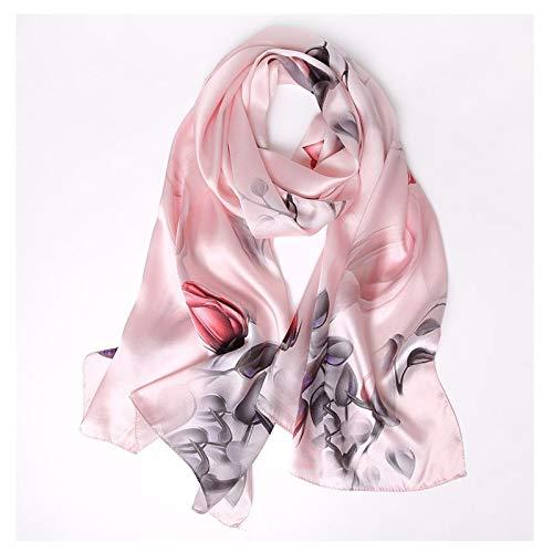 Moda Bufanda Chal De gama alta de las mujeres pañuelos de seda de impresión chales cómodo envuelto en seda abrigo de la bufanda pañuelo protector solar Chales Bufanda acogedora ( Color : B )