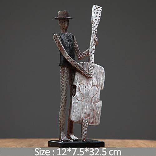 FASHA Escultura Moderna Decoracion,Handmade Musician Sculpture & Amp;Estatua Banda Abstracta Figuras Accesorios Decoración De Bodas Artesanías, C, Colección, Recuerdos, Mu