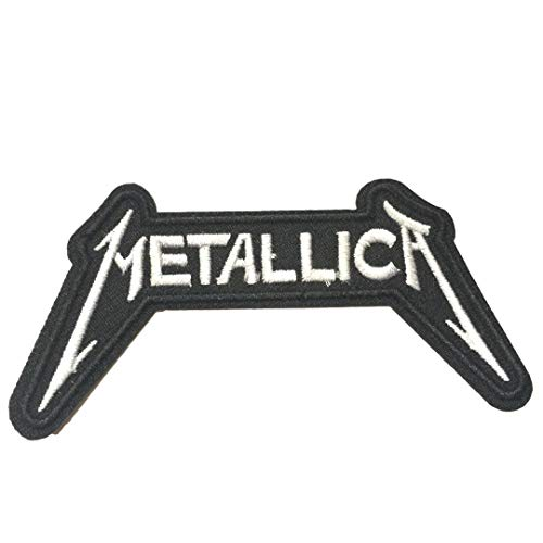 Iron on Patches #2, Metallica Patch Heavy Metal Rock Band Embroidered Iron On / Sew On Patches for Jeans, Clothing Patches for t Shirt Jackets by Nesar