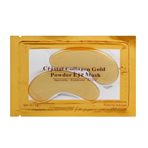 Hometom Gold Eye Collagen Aging Wrinkle Under Crystal Gel Patch Anti Mask New (Yellow)