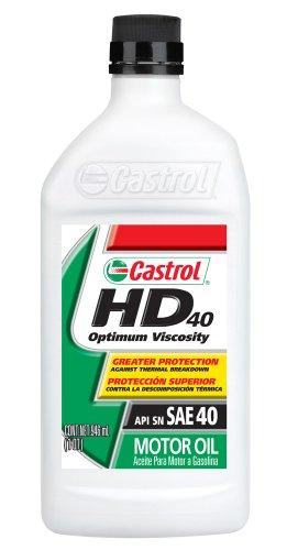 Castrol 06143-6PK HD40 Motor Oil, 1 Quart, Pack of 6