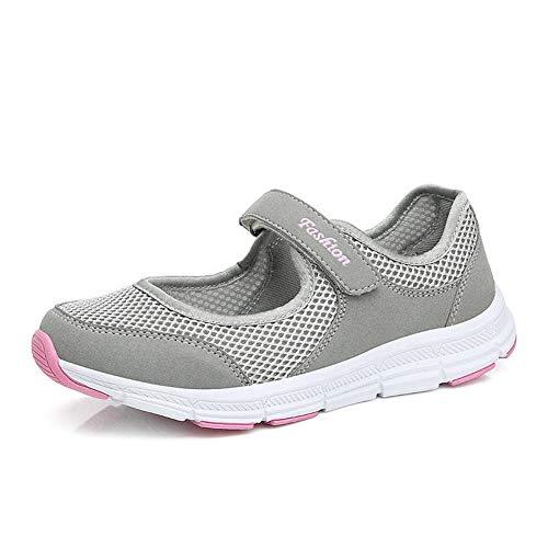 Zapatillas de deporte de moda de las mujeres Zapatos casuales Zapatillas de deporte de primavera y verano Zapatos para caminar al aire libre Malla para mujer Transpirable Zapatillas de deporte ligeras