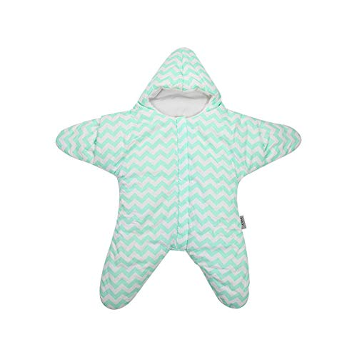 Saco de Dormir para Bebé,Edredón acolchado de algodón para bebé, saco de dormir con piernas abiertas para mantener los pijamas calientes-verde_88cm