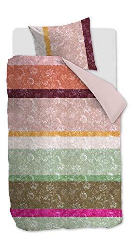 Oilily Blooming Stripe Mako-Satin Bettwäsche Farbe Multi Größe 135x200cm+80x80 Farbverlauf
