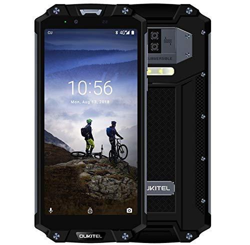 OUKITEL WP2-6,0 Pulgadas FHD + (relación 18: 9), móvil Inteligente de Estándar Militar con batería de 10000 mAh (42 Días en Espera), IP68 Impermeable Antipolvo Ocho Núcleos 4GB + 64GB -Negro