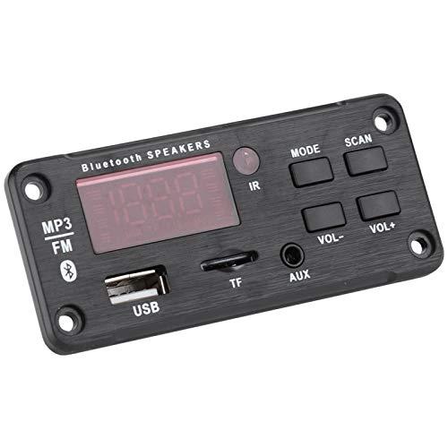 FOLOSAFENAR Pantalla a Color Módulo Bluetooth Módulo de Altavoz de Coche Control Remoto por Infrarrojos, Interfaz USB de Soporte