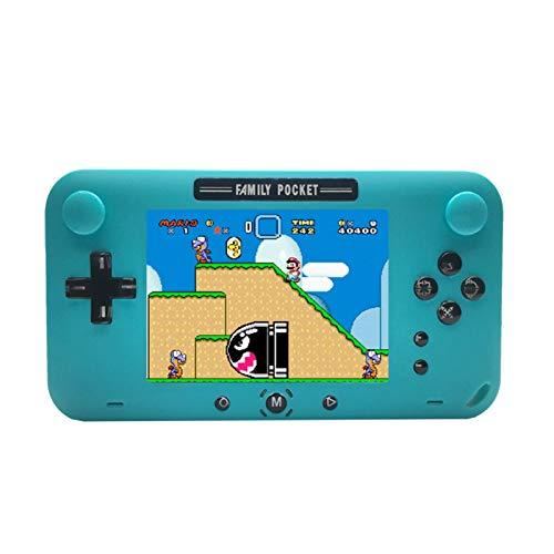 Console di gioco portatile, integrato 200 giochi classici da 4 pollici Retro sistema di gioco, giocatore di gioco ricaricabile protettibile AV, miglior regalo for bambini e adulti ( Color : Blue )