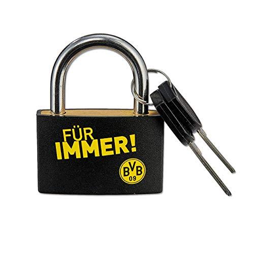 Borussia Dortmund Vorhängeschloss, Schloss - Für Immer BVB - Liebesschloss BVB 09 (L)
