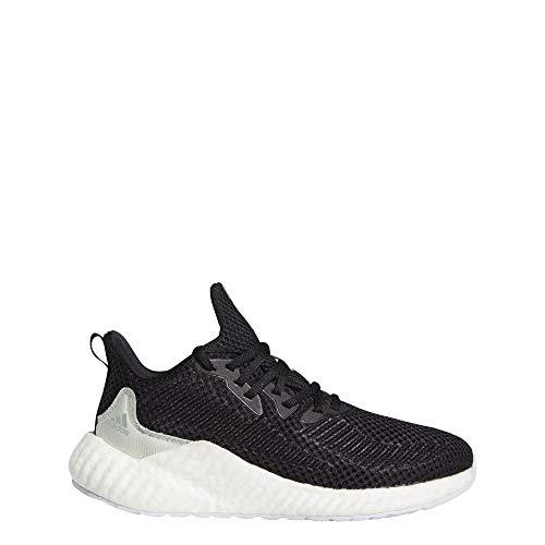adidas Women's Alphaboost Parley Running Shoe, Black/Linen Green/White, 11 M US