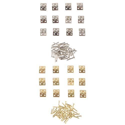 24pcs Bisagra de Gabinete Joyero Metal en Miniatura Accesorios de Muebles de...