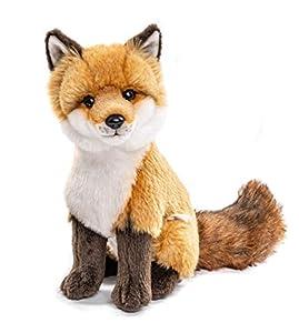 Uni-Toys - Rotfuchs clásico - 27 cm (Altura) - Zorro, Animales del Bosque - Peluche de Peluche, Color marrón, Blanco, HW-79025
