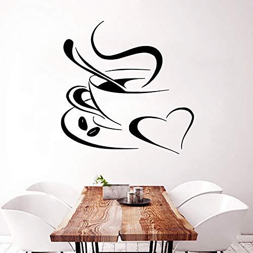 Yaonuli Fotobehang Sticker verwijderbare koffie aroma en keuken decoratie Muurtattoo Decoratie