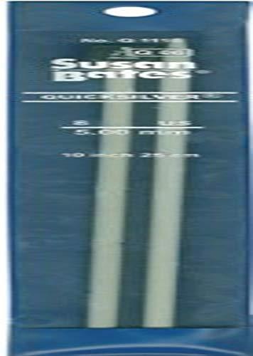 3.25mm Susan Bates 14-Inch Silvalume Single Point Knitting Needle Blue