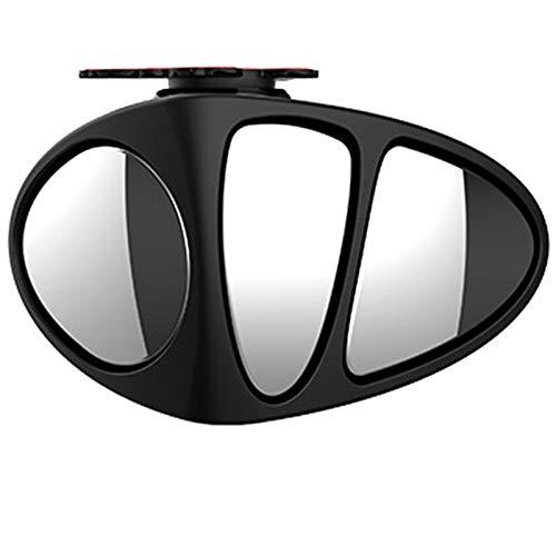 ACAMPTAR 3 en 1 RotacióN de 360 ??Grados Espejo de Punto Ciego de Tres Lados InversióN de Estacionamiento Espejo Auxiliar de Punto Ciego Convexo Derecho