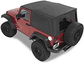 Pavement Ends by Bestop 51203-35 Black Diamond Replay Replacement Soft Top Tinted Windows; No Door Skins Included for 2010-2018 Jeep Wrangler 2-Door