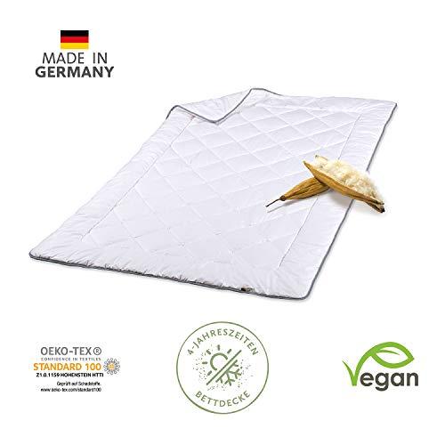 JONA SLEEP Bettdecke Vegan (135x200 cm) 4-Jahreszeiten Kapokdecke Öko Tex, Stepp Ganzjahres-Decke Allergiker-Geeignet - Waschbar - (135 x 200 cm)