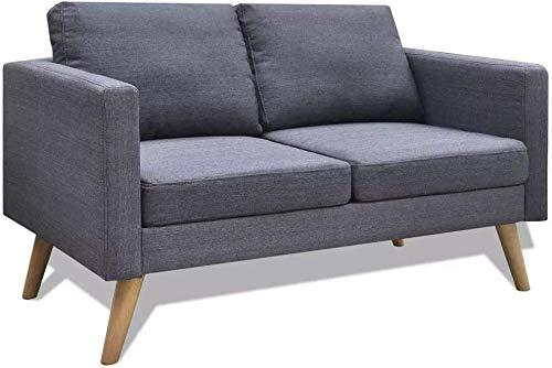 Sofá de sofá de sala de estar Sofá de 2 asientos, elegante y cómodo sofá cama doble para oficina en casa, sofá cama Sillón de ocio,G