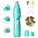 Toozey Dog Nail Grinder, Professional 2-Speed Electric Dog Nail Clippers Trimmer with 2
