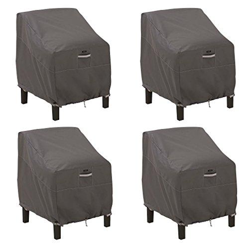 Classic Accessories - Abdeckhaben für Stühle in Taupe, Größe Large Lounge Chair, 4 Pack