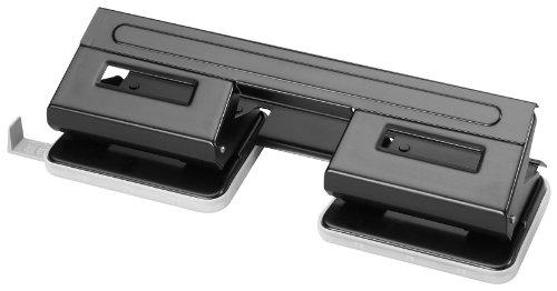Herlitz 1610880 Perforateur double Capacité 1,5 mm/Réglette Noir (Import Allemagne)