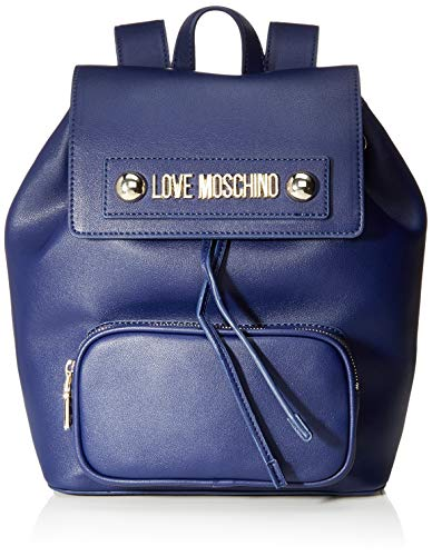 Love Moschino Borsa Natural Grain Pu, Zainetto Donna, Blu (Blu), 28x13x26 cm (W x H x L)