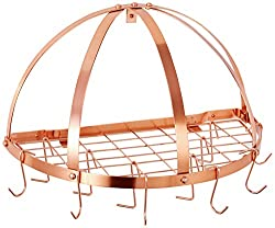 Stylish copper pot rack Copper 7th Anniversary Gifts for Him