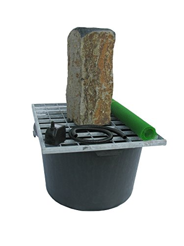 Stone Age Creations FK-BA-0918A 5 Piece Polished Top Basalt Fountain Kit, 18""