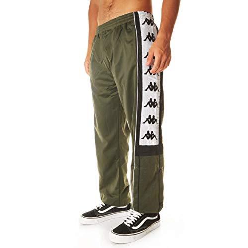 Kappa Arpan 222 Banda Pantaloni, Verde Nero Bianco, S Uomo