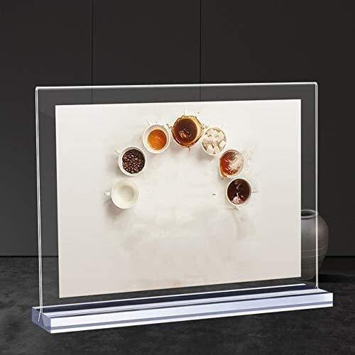 LXESWM Soporte de Signo Poster Menu Holder Freestanding Sign Soporte, Soporte de exhibición de acrílico Plastic Clear Imagen de menú para el hogar Tienda de Oficina Restaurante