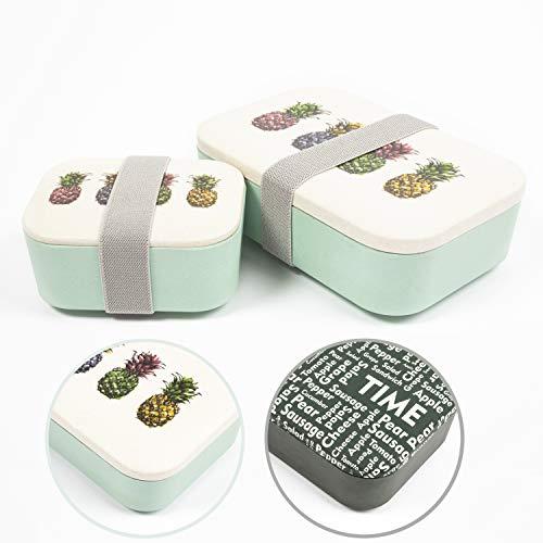 Natumo Lunchbox, set van 2, geschikt voor levensmiddelen, BPA-vrij, eetdoos, brooddoos, brooddoos, brooddoos, snackbox, Vesperblik
