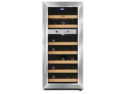 Caso Profi Weinkühlschrank für 21 Flaschen, 2 Temperaturzonen, 7-18° C und 10-18°, WK630 GGG